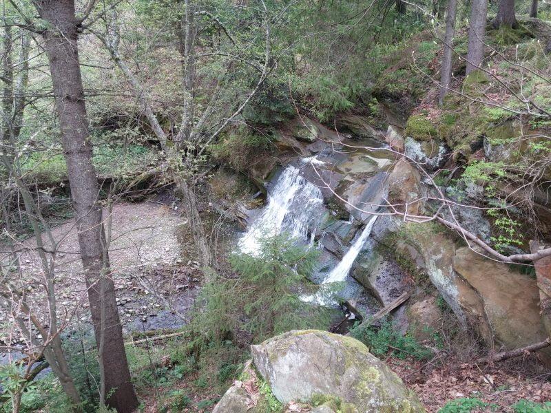 водопады украины