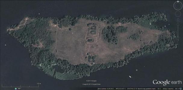 остров койд-даг со спутника