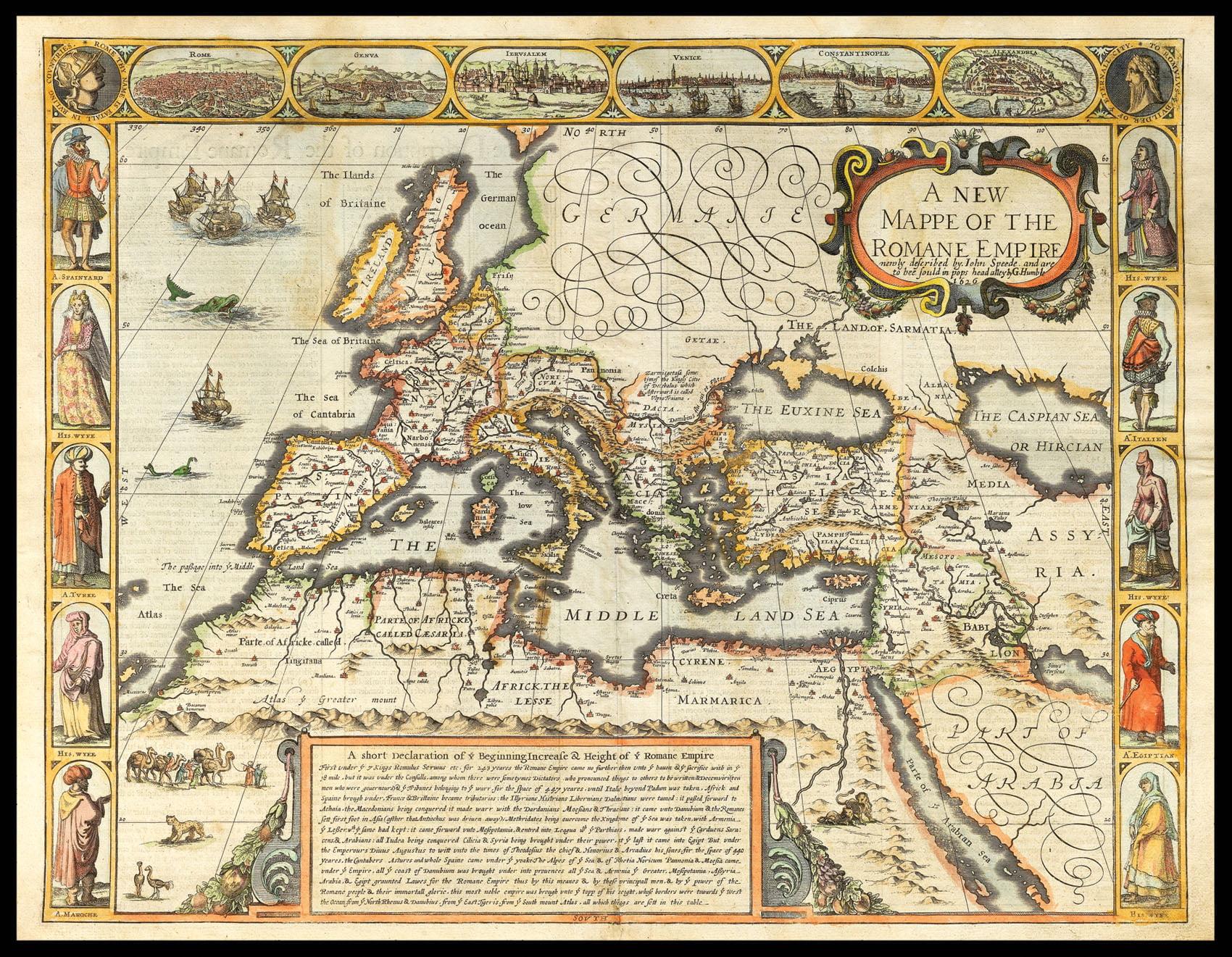 карта Европы 17 века