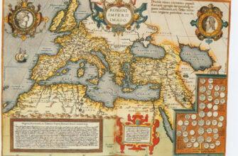 Карта Римской империи Ортелиуса