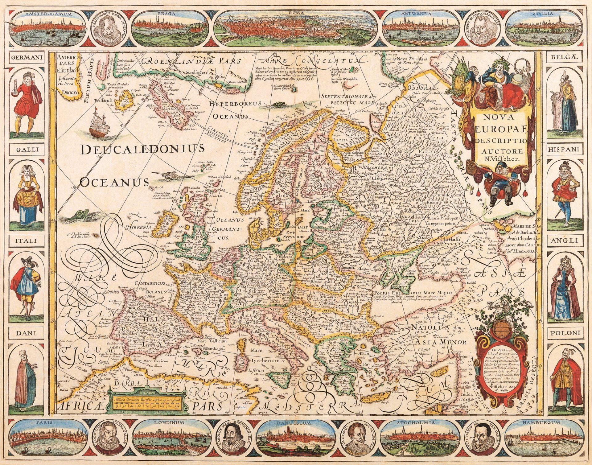 Карта Европы средневековая