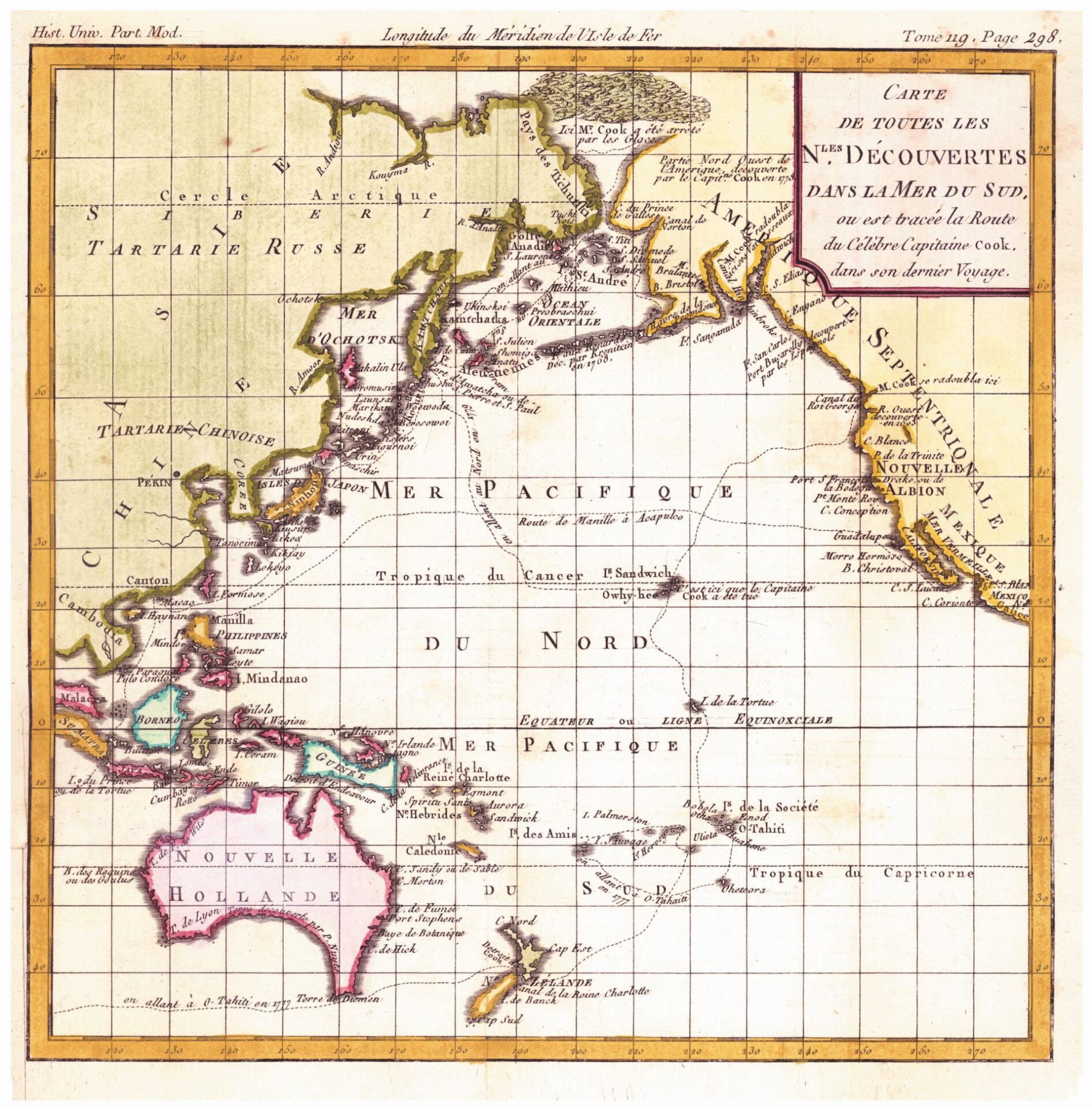 Карта Восточной Тартарии