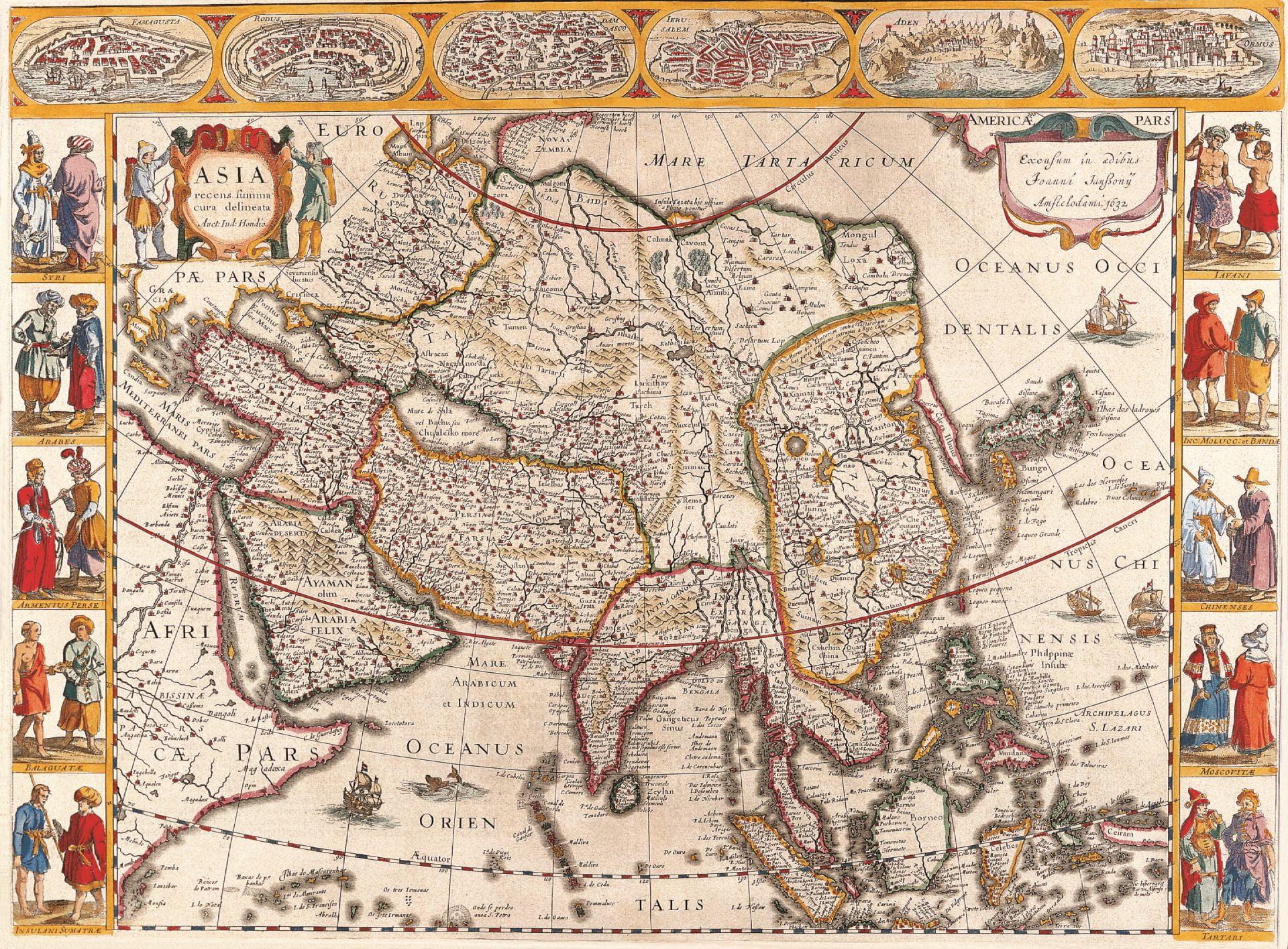 Средневековая карта Азии