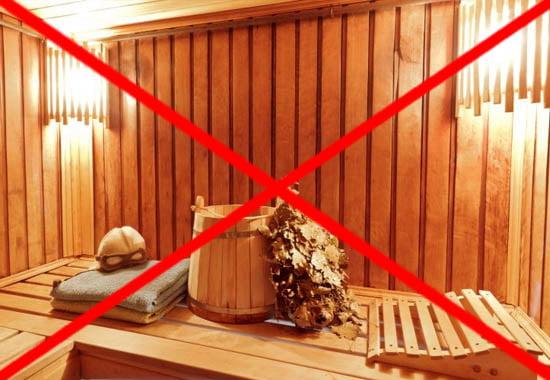 Противопоказания в бане