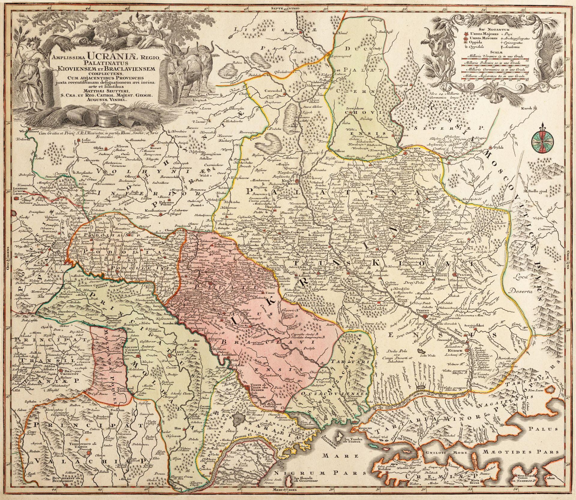 Средневековая Карта Украины