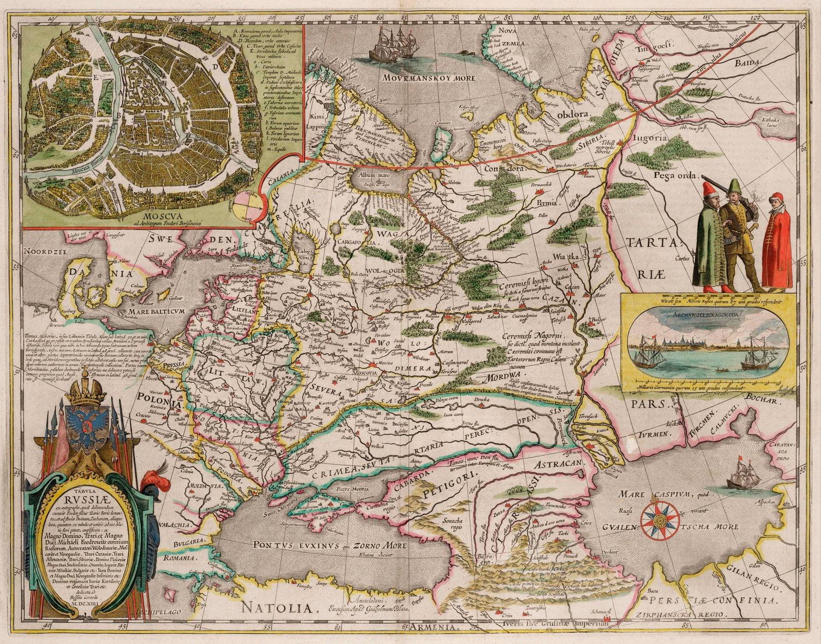 Карта Тартарии Бориса Годунова