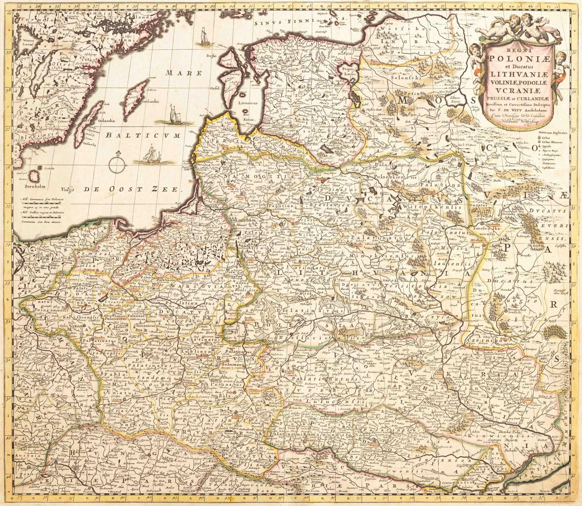 Карта Польши и Подолья 17 века