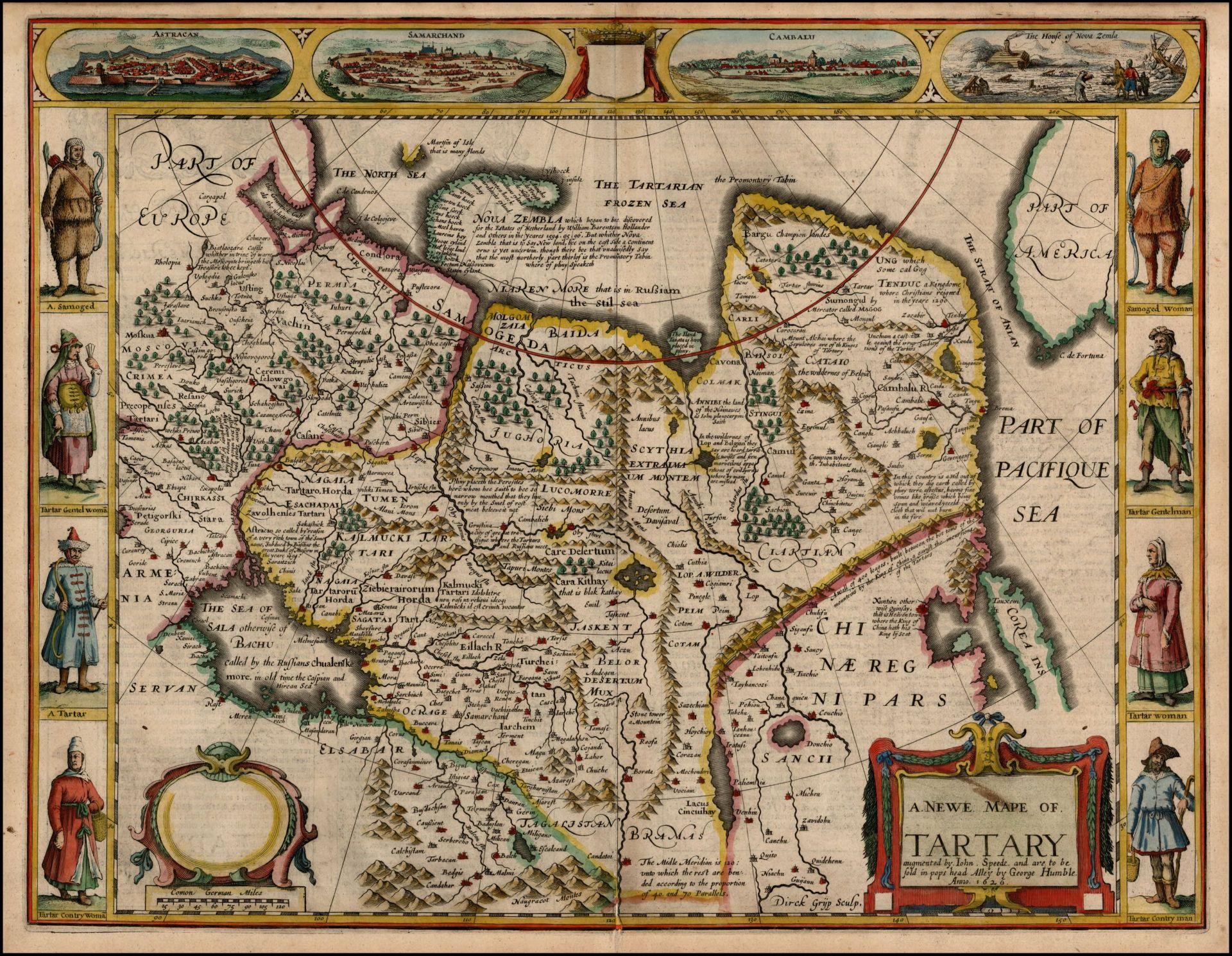 Карта Тартарии Азиатской John Speede