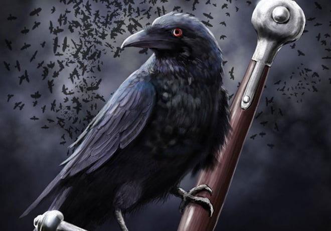 песня - черный ворон